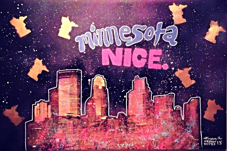 """Minnesota Nice 24"""" x 60"""" (2014)"""