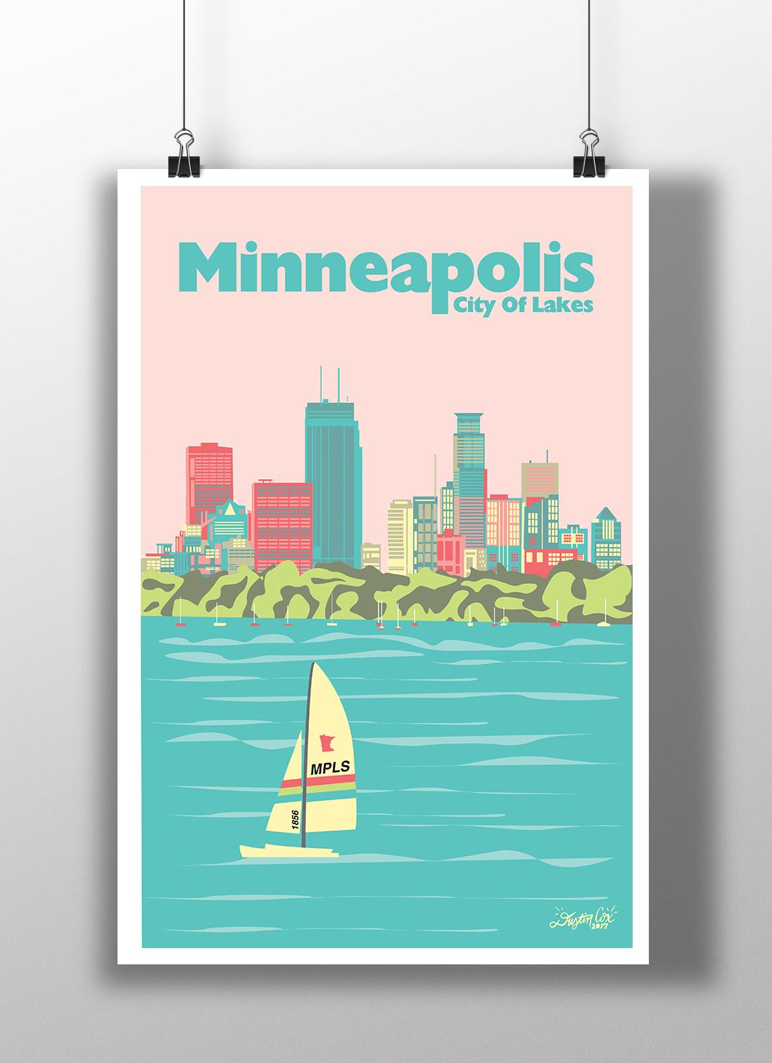 Minneapolis City Poster