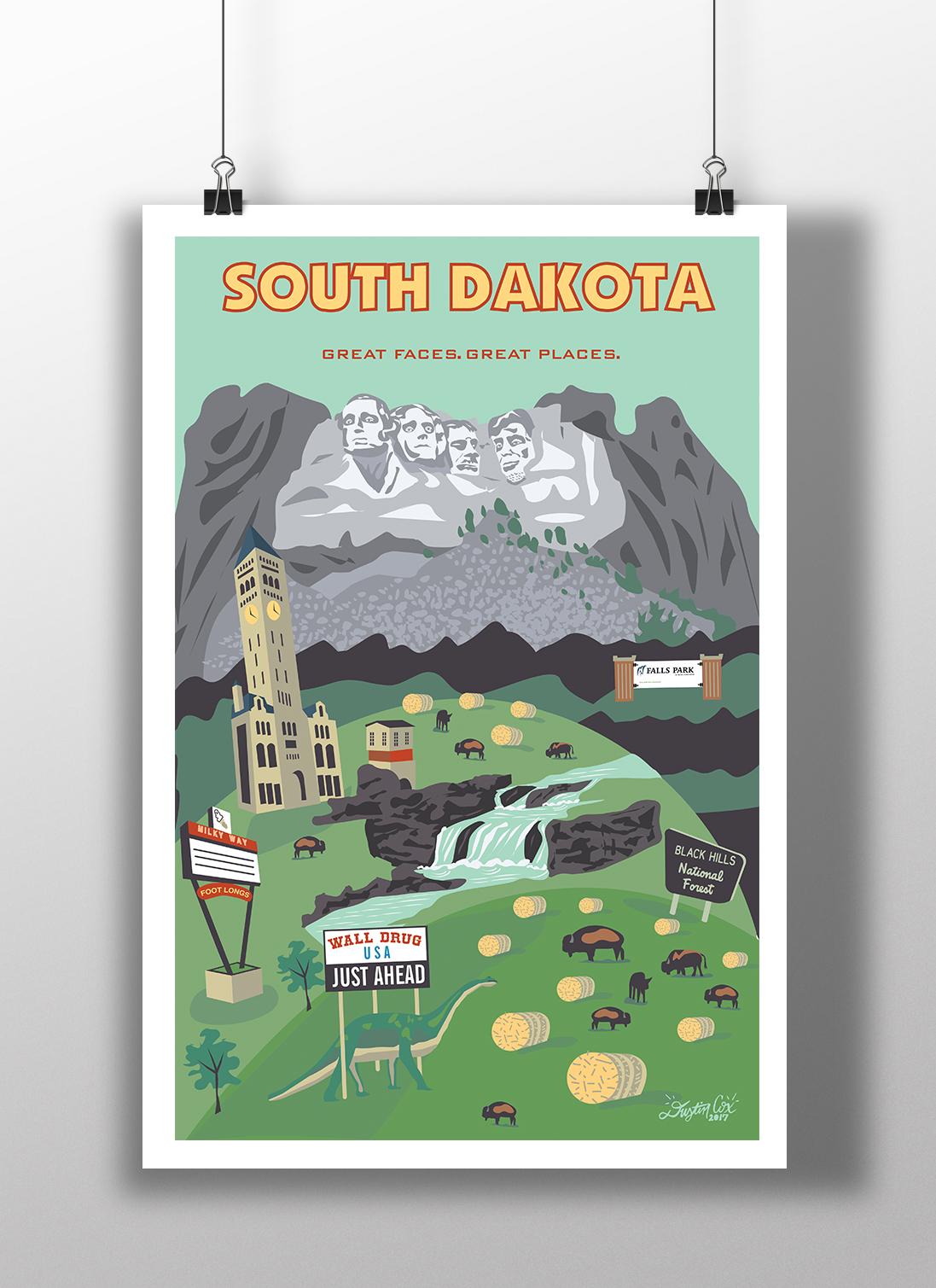 South Dakota State Poster