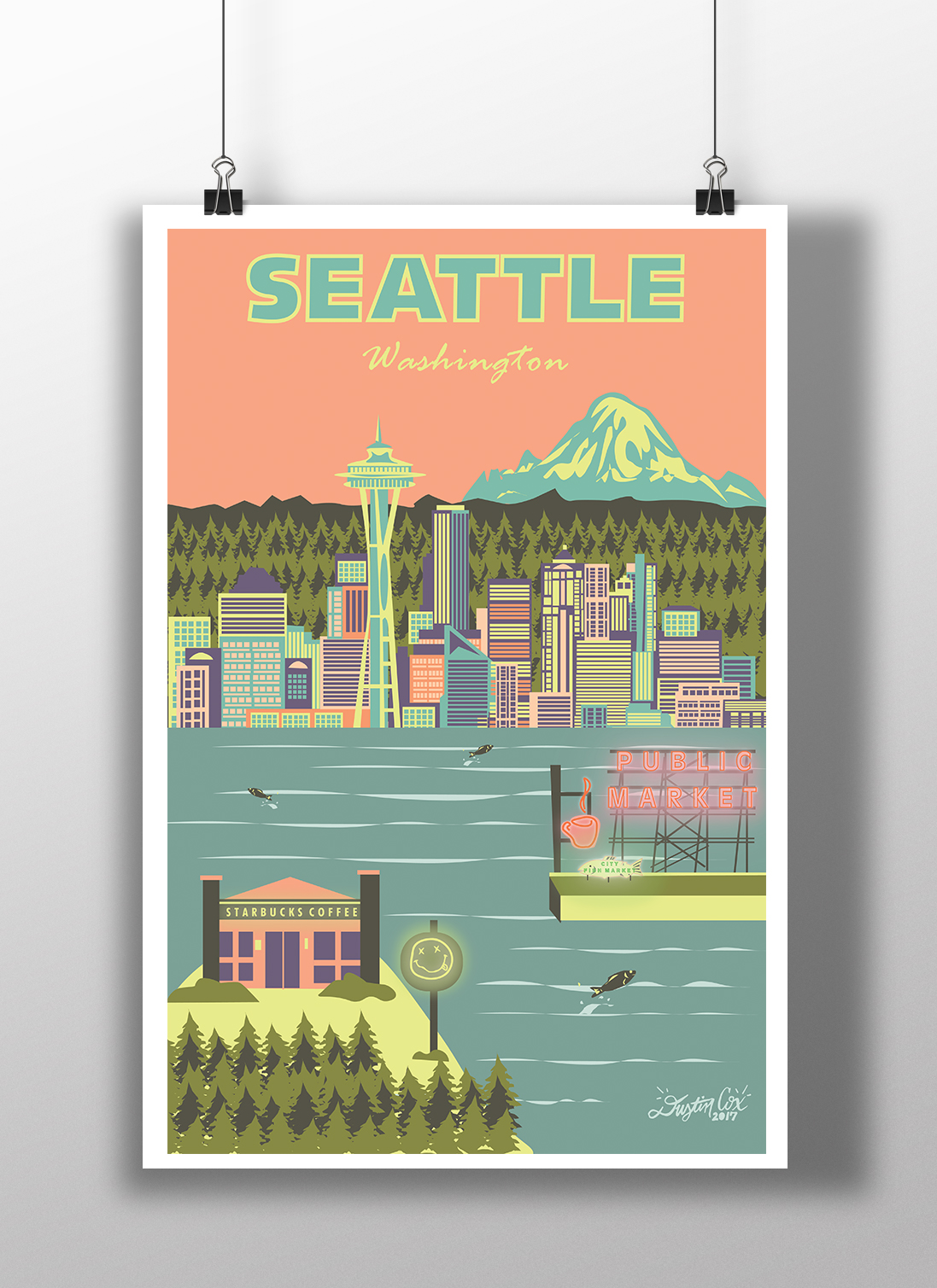 Seattle City Poster