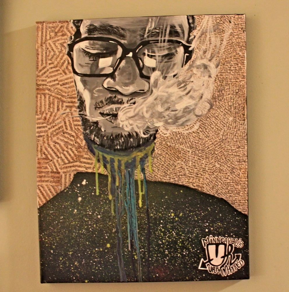 "Kid Cudi Portrait (#2) 16"" X 20"" (2014)"