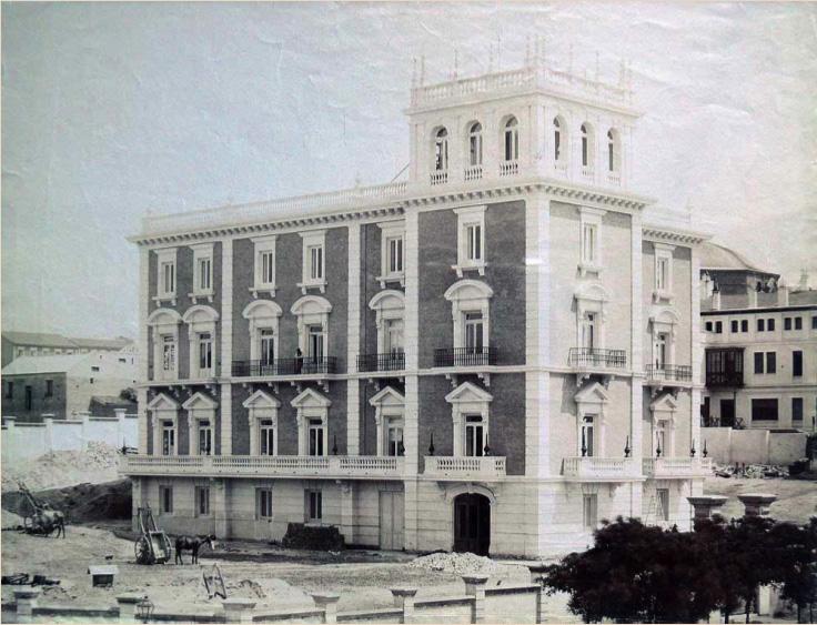 """Construcción del """" Palacio de Parque Florido"""". 1907"""
