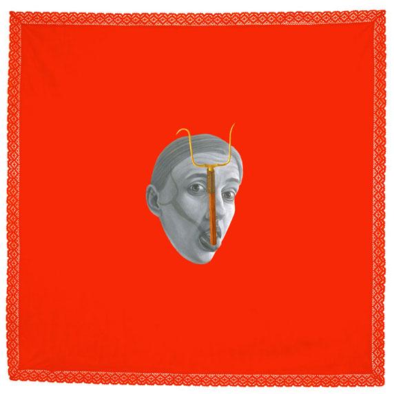 Marina Núñez, de la serie Locurade 1996.  Óleo sobre lino.155 x 155 cm.Colección MUSAC.