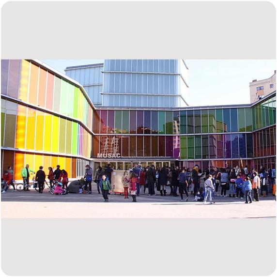 Imagen del exterior del Museo de Arte Contemporáneo de Castilla y León (MUSAC), en León.