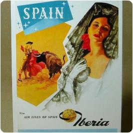 Cartel Iberia, torero y flamenca