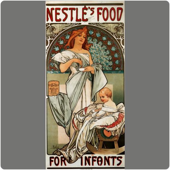 Alphonse Mucha. Cartel para Nestlé