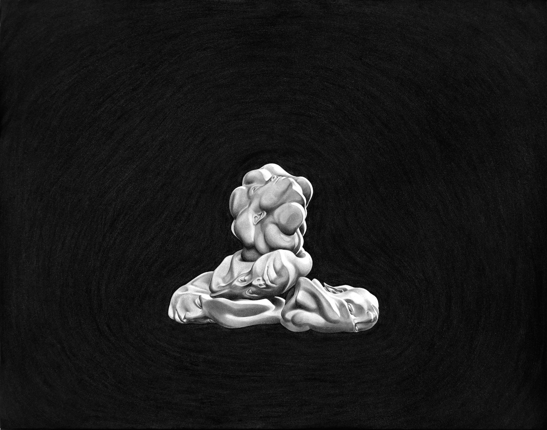 """ST (monstruos)"" (5), 2012. Oleo sobre papel montado sobre aluminio. 50x70 cm."