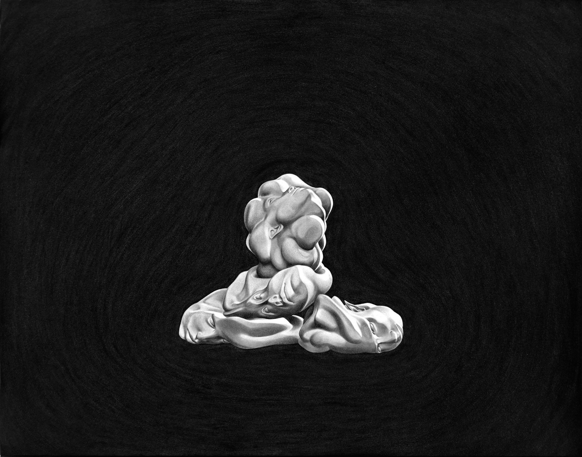 """Sin Título (Monstruos)"" (5), 2011.Óleo sobre papel montado en aluminio. 50 x 70 cm."