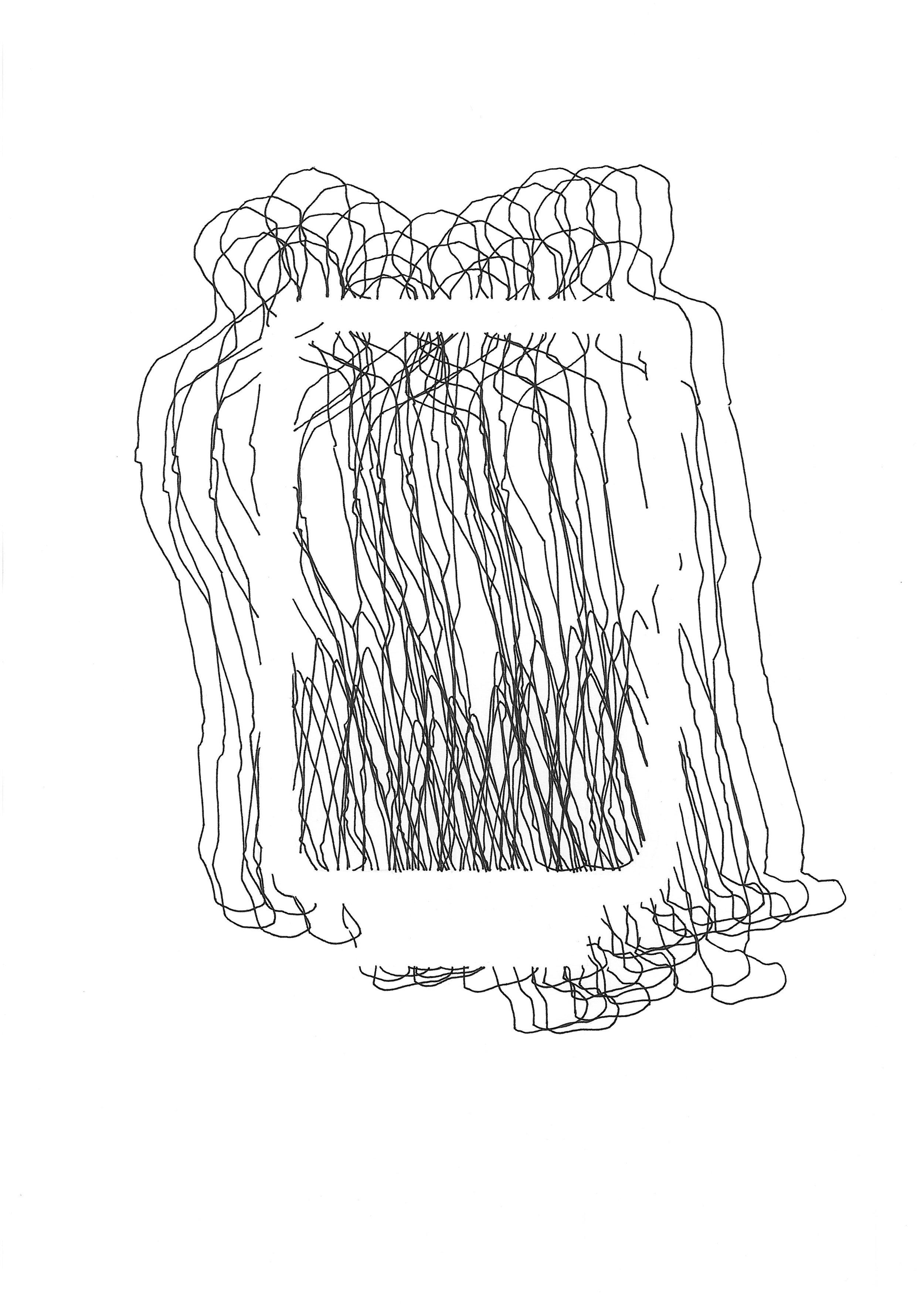 """""""Zuckerberg"""" (2), 2017. Tinta sobre papel. 42x30 cm."""