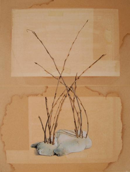 "Tamara Feijoo, ""Follie II"", 2014. Gouache sobre cartón, 54,5 x 41 cm."