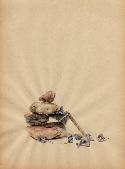 "Tamara Feijoo,""Wisteria"" ,  2013. Gouache sobre papel, 27,5 x 21 cm"