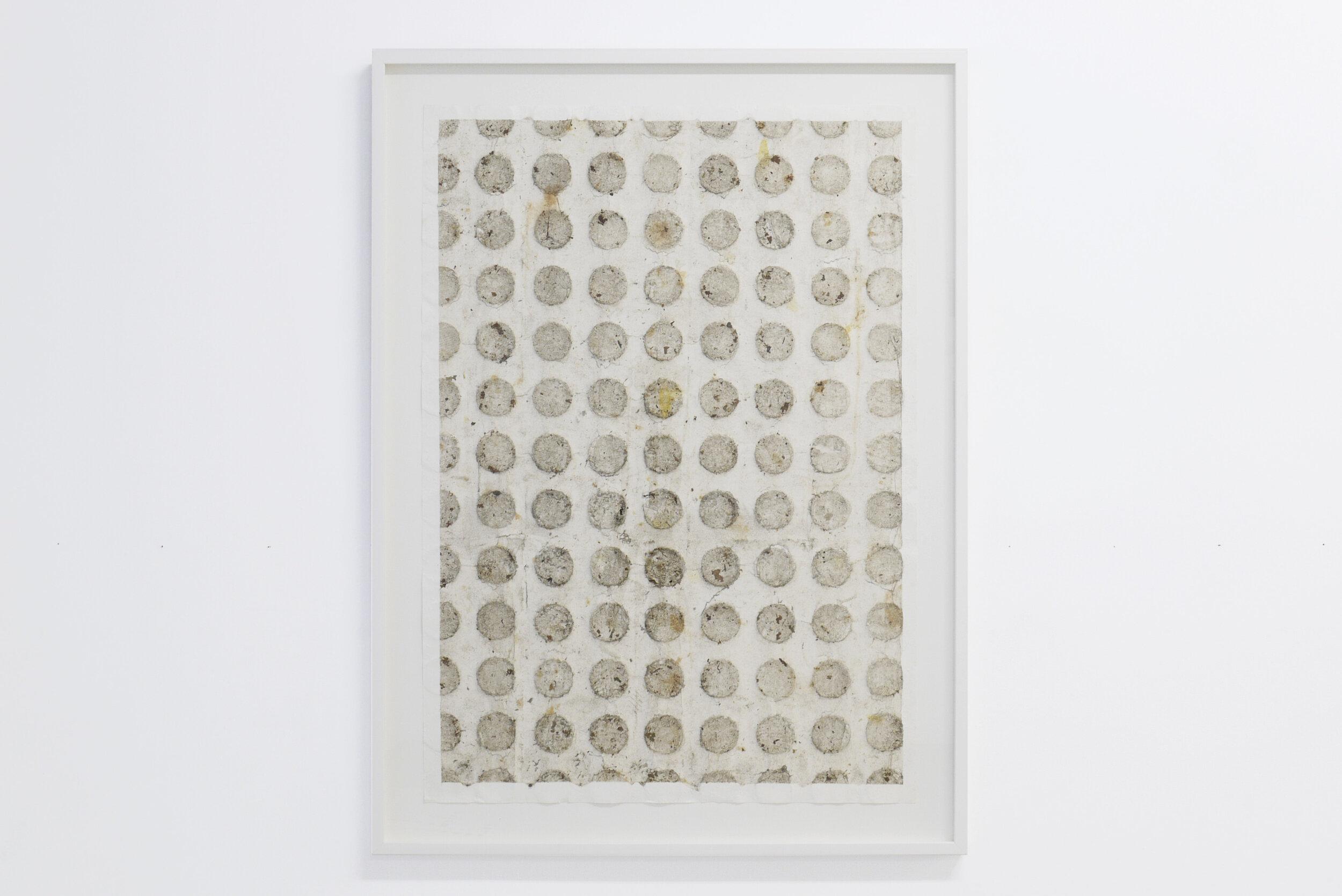 """Ignacio Pérez-Jofre, """"Suelo"""", 2019. Suciedad y erosión sobre papel. 84x59 cm"""