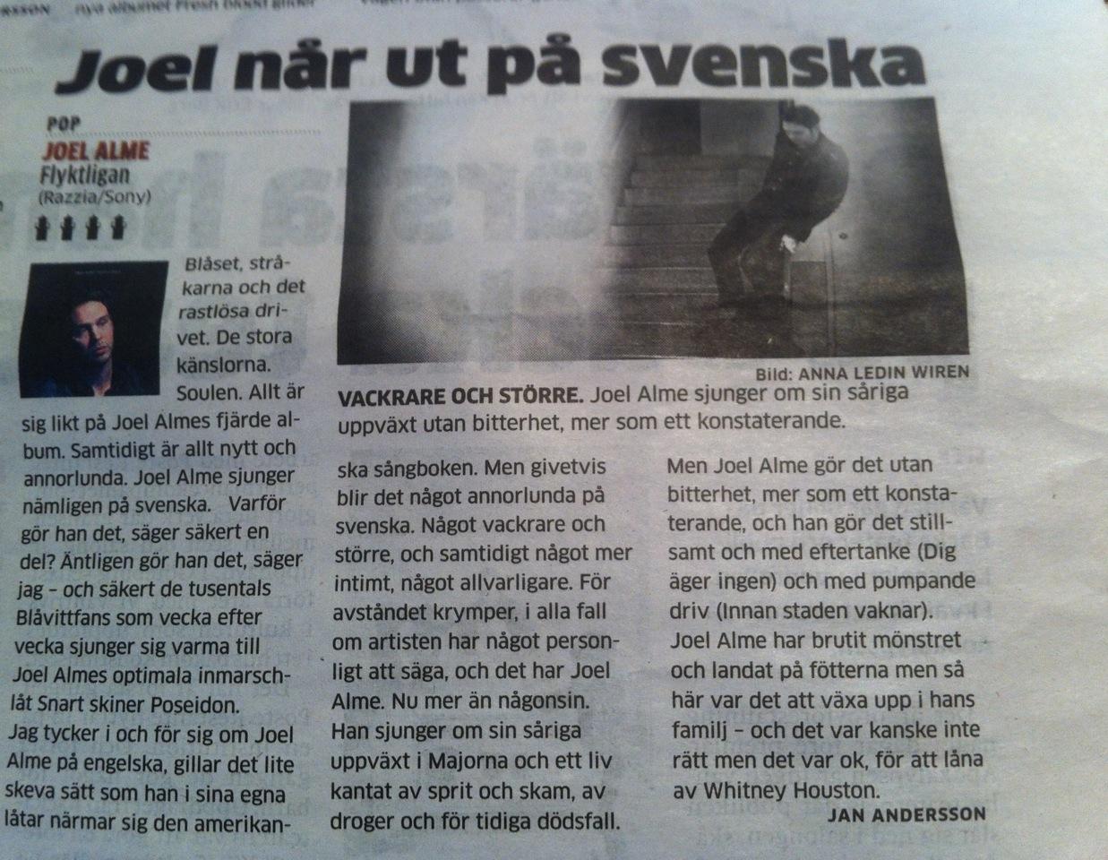 Joel Alme Flyktligan recension GP.jpg