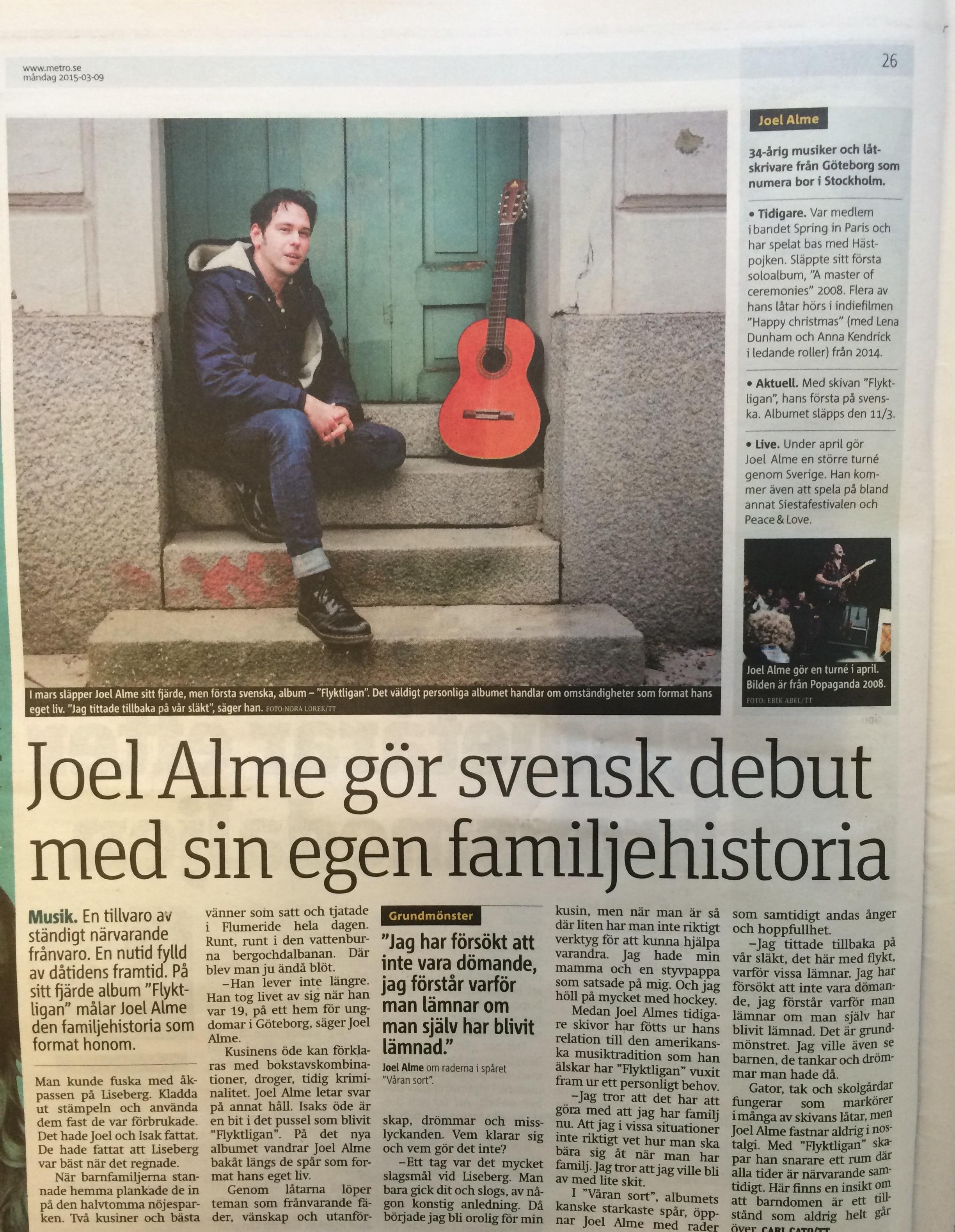 Joel Alme - intervju i Metro.jpg