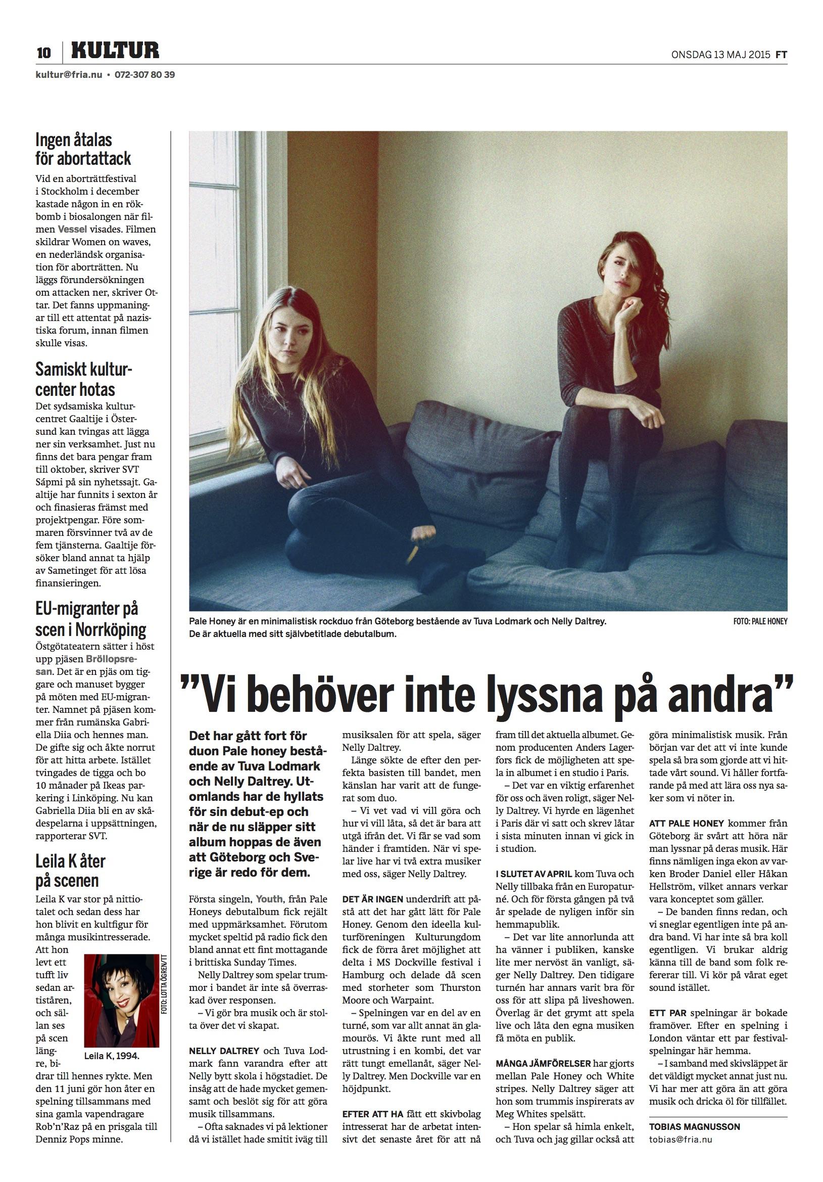 Fria GBG intervju - Pale Honey.jpg