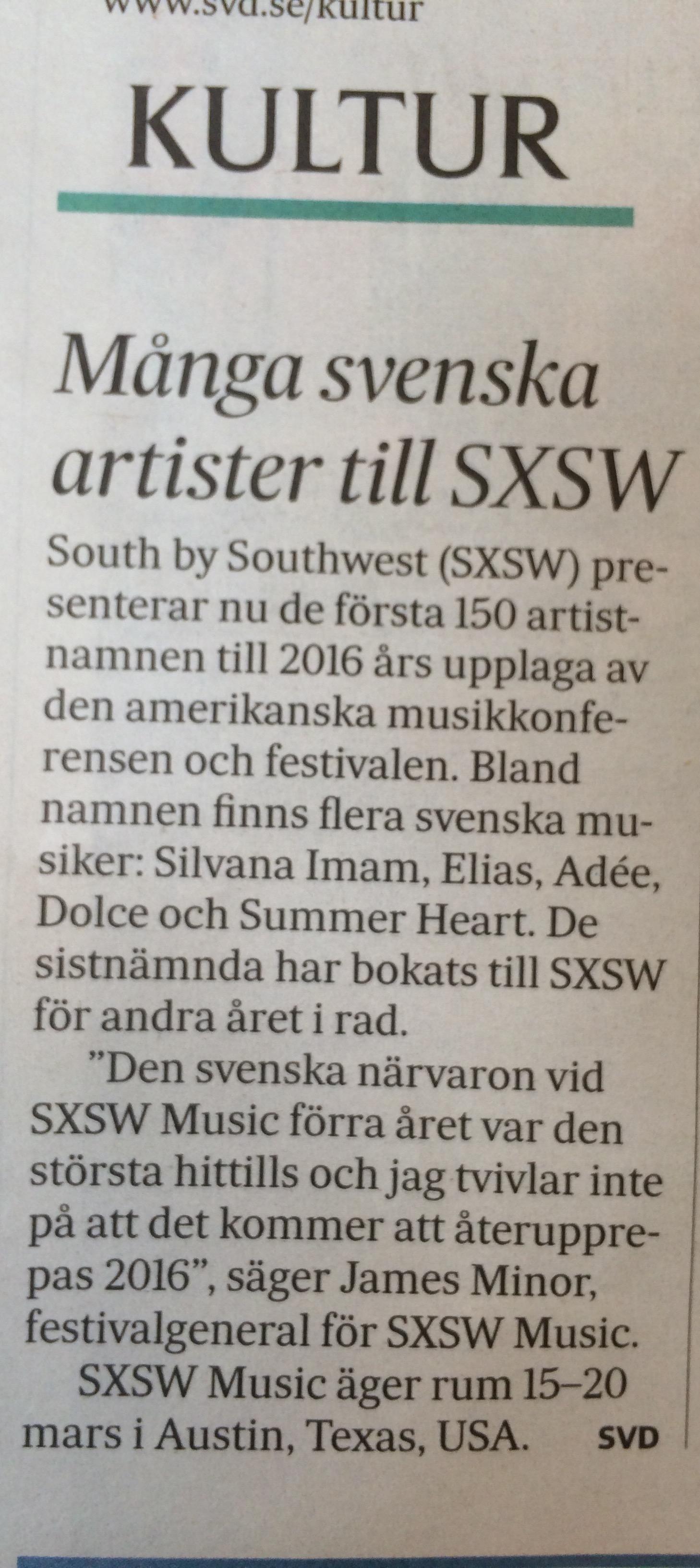 SvD kultur tips - SXSW 2016.jpg