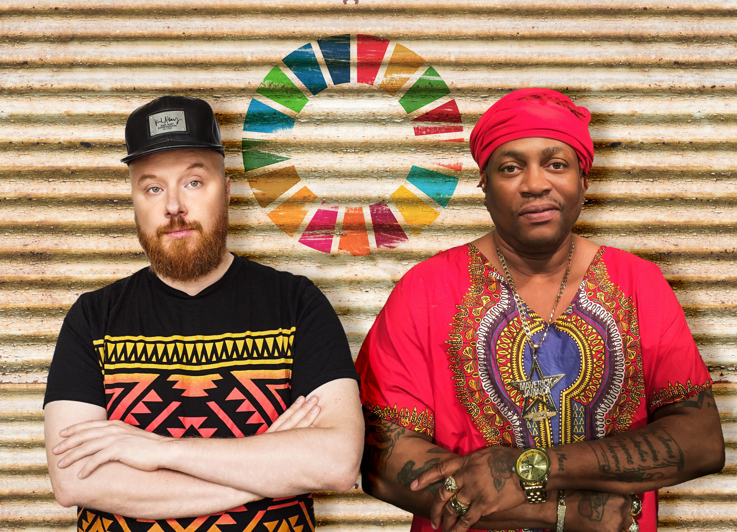 Petter Wallenberg (som komponerat och producerat albumet) och Mista Majah P (som medverkar på singeln Equal Rights) Foto:Simon Revillas