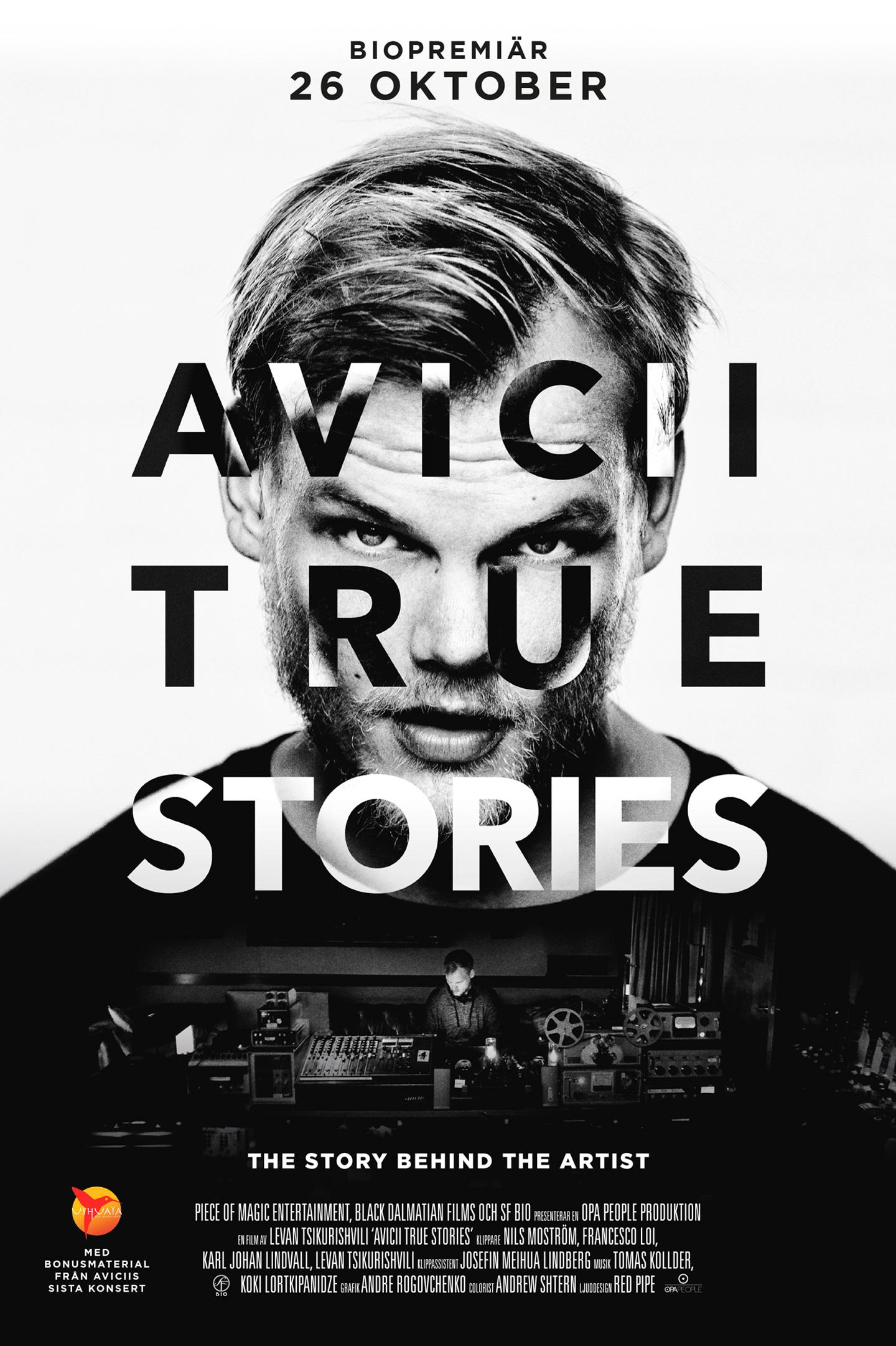 Avicii: True Stories, av Levan Tsikurishvili (svensk poster)