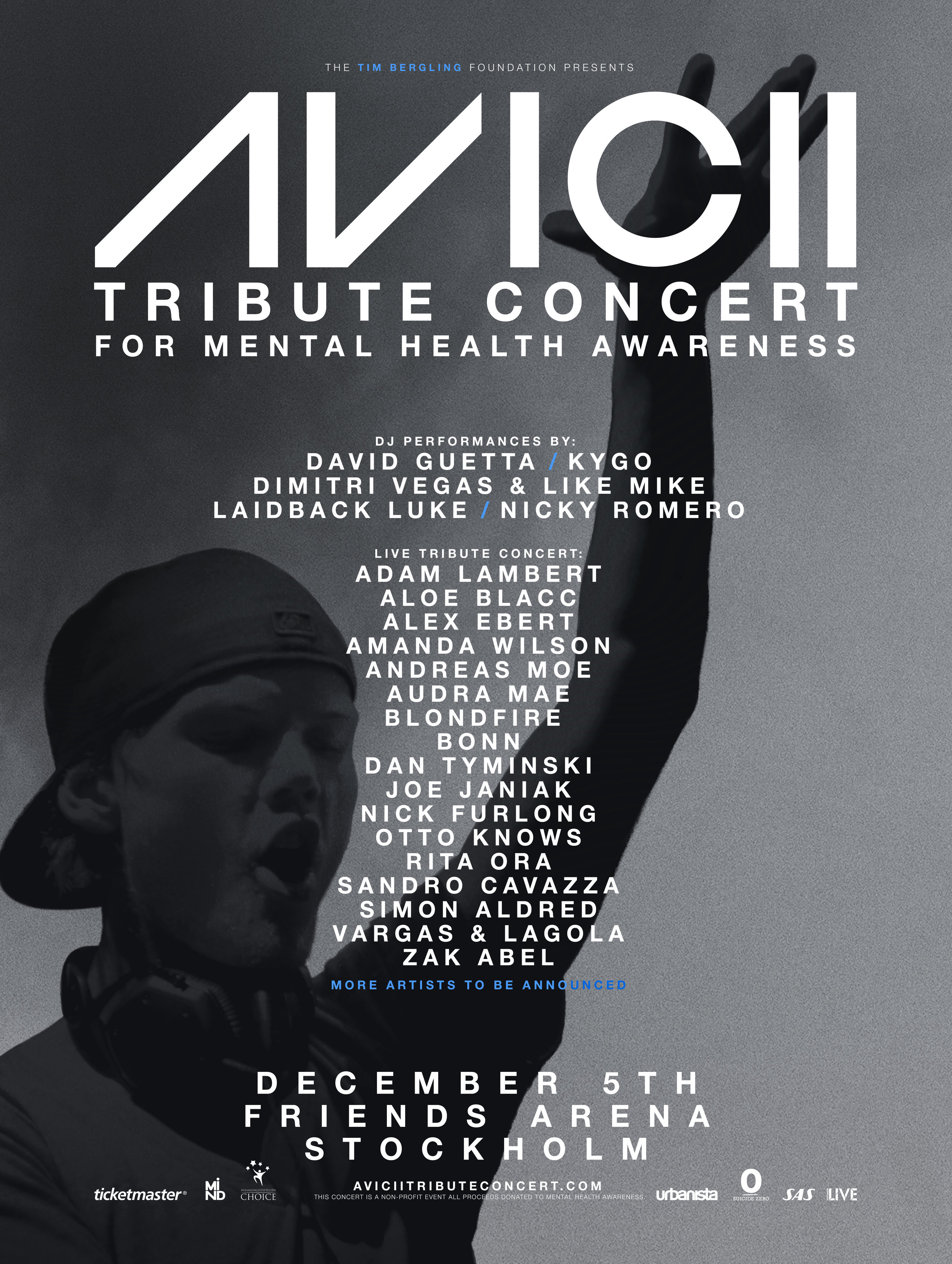 Artwork för Avicii Tribute Concert for Mental Health Awareness