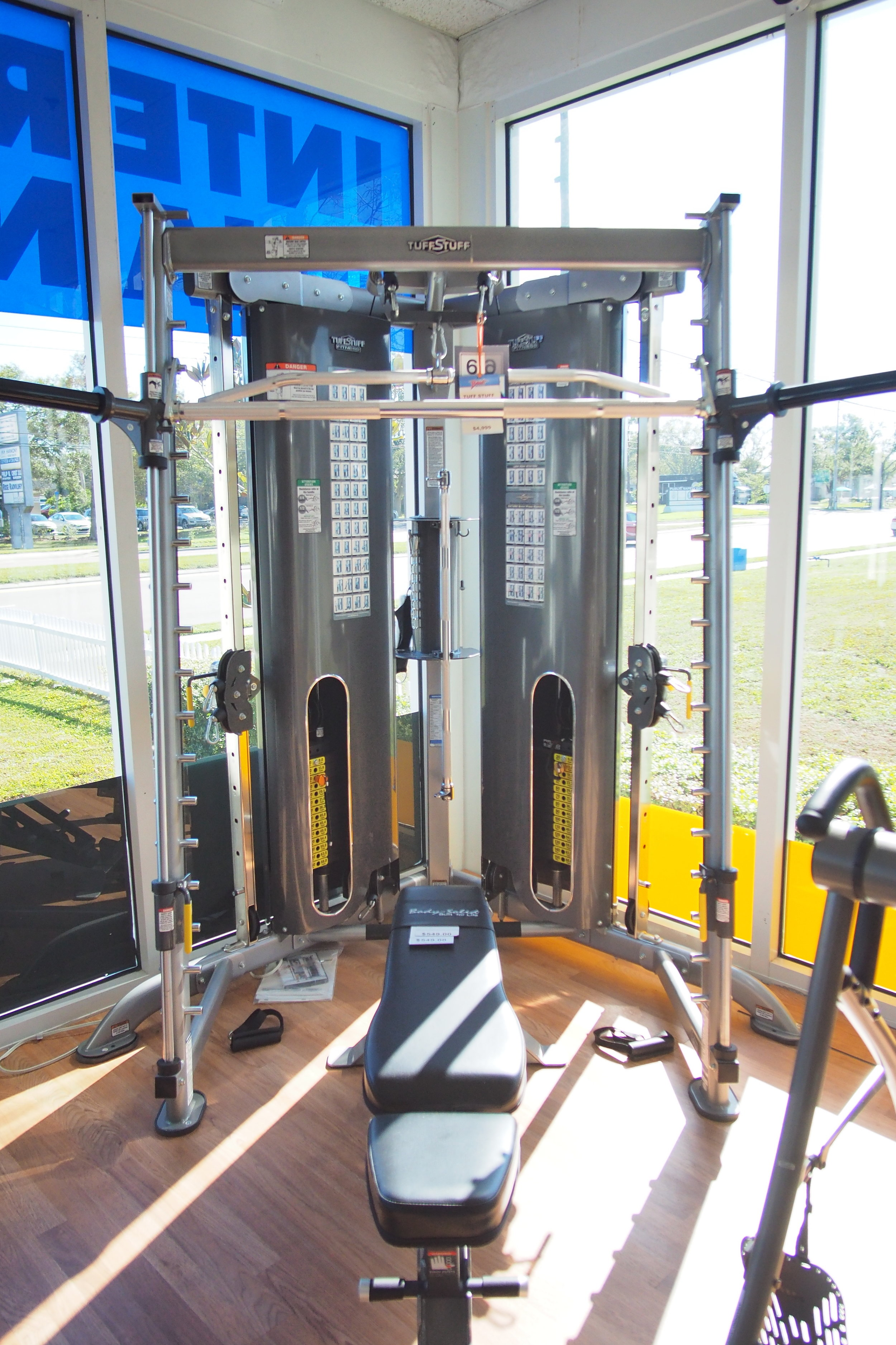 Tuff Stuff CXT-225 Functional Trainer Gym System Hybrid on display in our showroom