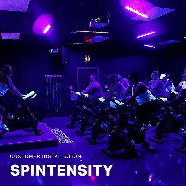 We're super proud to work with Melissa and the team at @Spin_tensity on their new #spinclass #fitnessstudio in St. Pete. They just opened last week and they're killing it! If you're looking for a spot to take a super fun spin class under the #blacklight, make sure you swing on by! Btw, check out those @bodycraft_fitness bikes!