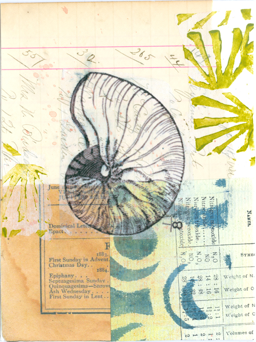 Collage on watercolor paper, 2014