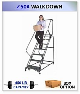 50 Degree Walk Down Ladder
