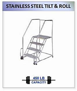 Stainless Steel Tilt And Roll Ladder