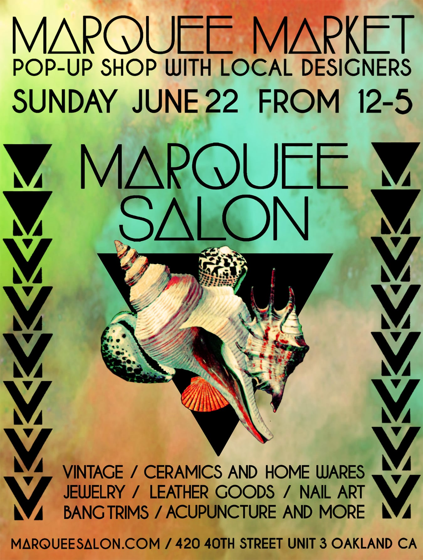 STARCADE DESIGNS FOR MARQUEE SALON / EVENT ADD, POSTER DESIGN / ©MARQUEE SALON              .