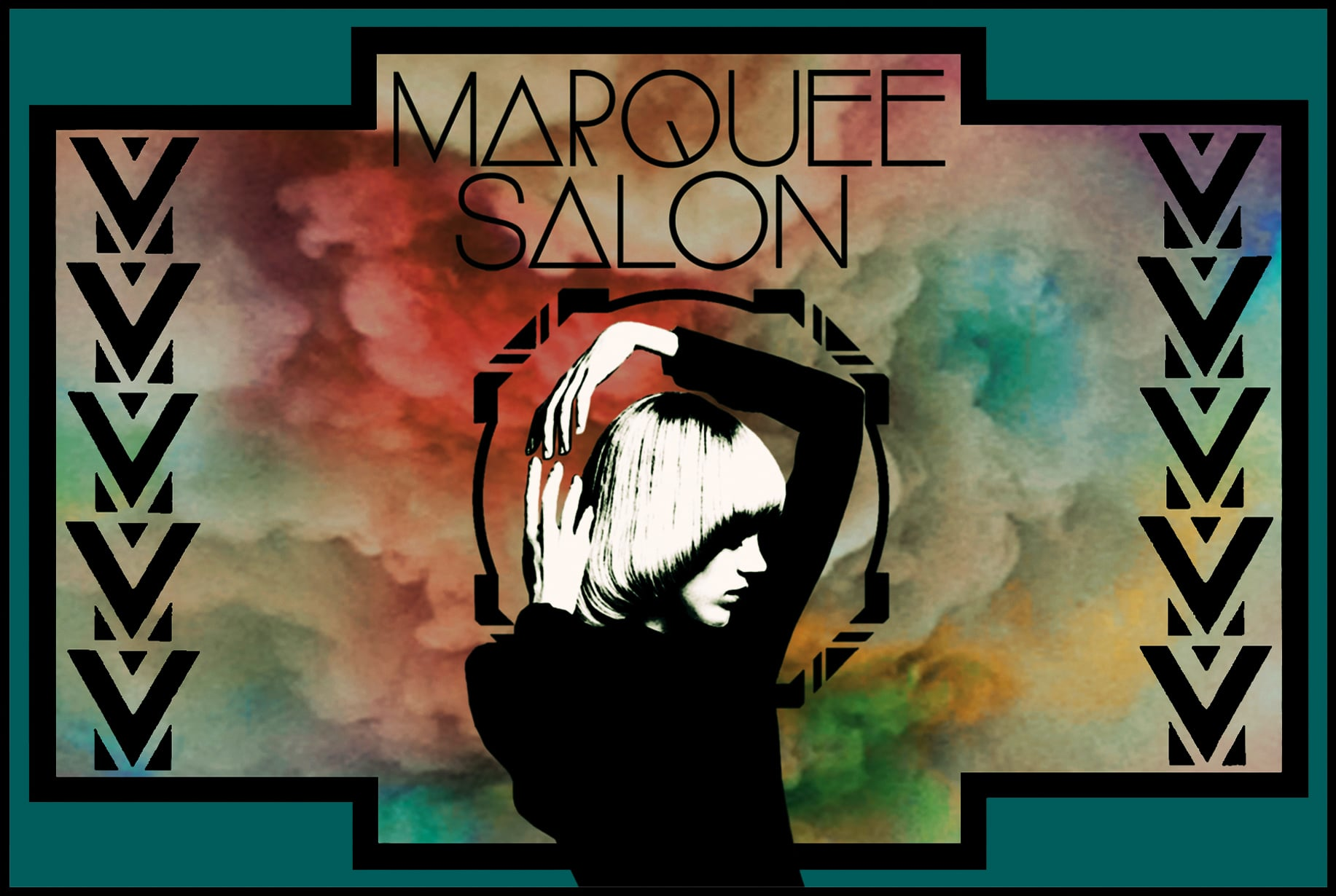 STARCADE DESIGNS FOR MARQUEE SALON / EVENT POSTCARD / ©MARQUEE SALON           .