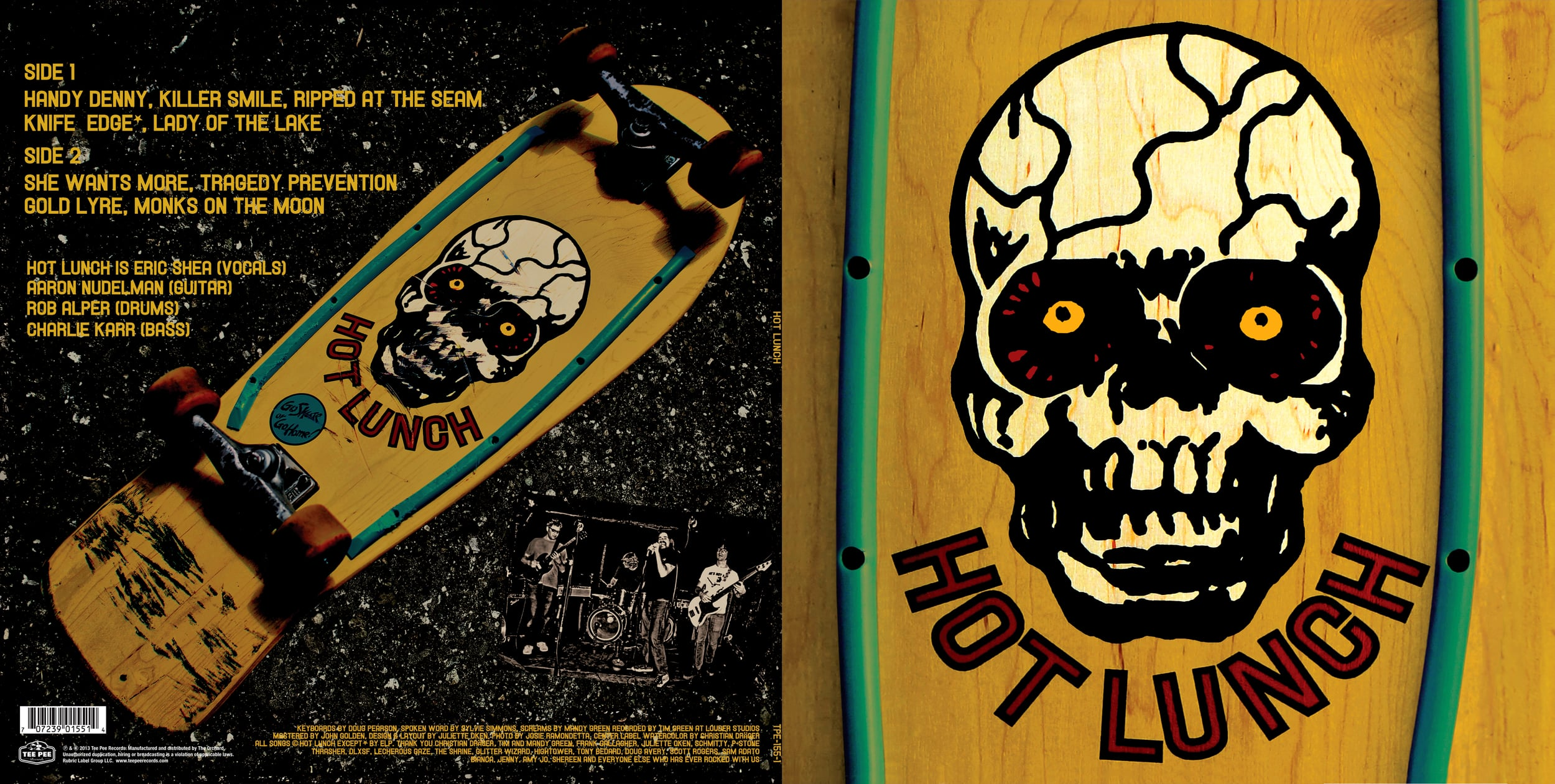 STARCADE DESIGNS FOR HOT LUNCH / CD FRONT & BACK / ©HOT LUNCH  .