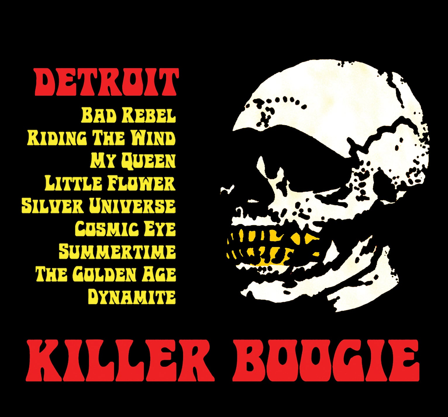 STARCADE DESIGNS FOR KILLER BOOGIE / TRACK LIST / ©KILLER BOOGIE        .