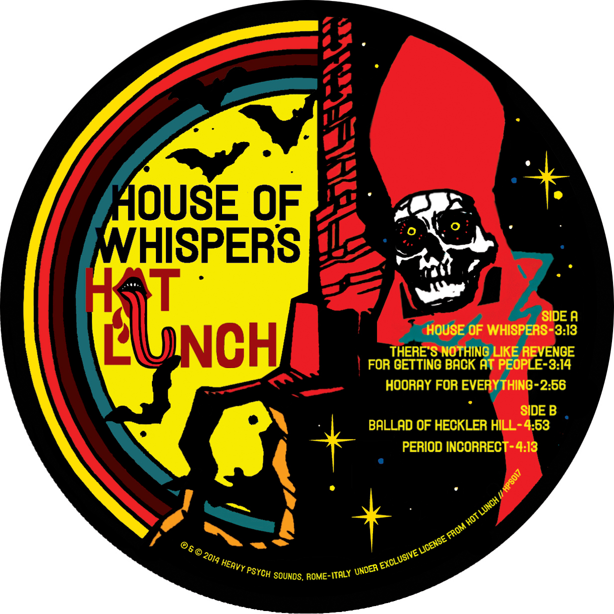 STARCADE DESIGNS FOR HOT LUNCH / DESIGN, ILLUSTRATION, VINYL LABEL / ©HOT LUNCH     .