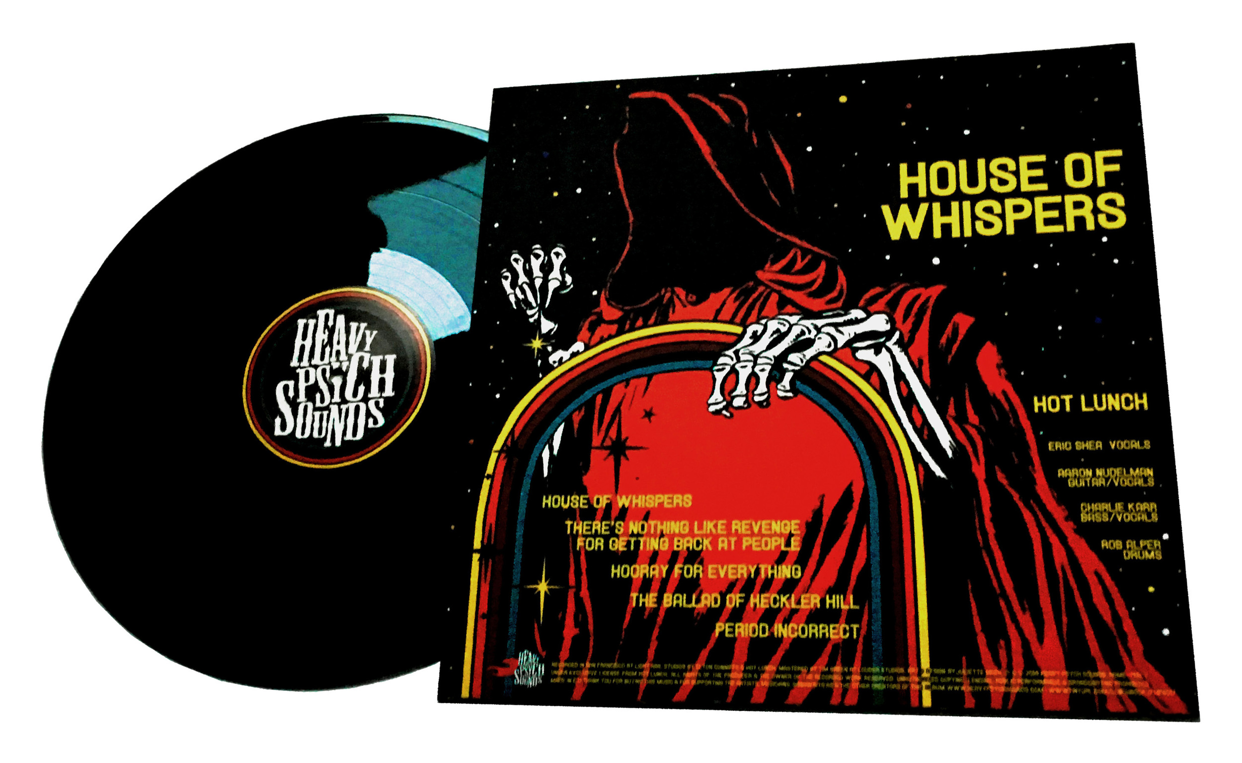 DESIGN AND LAYOUT FOR PRINT FOR HOT LUNCH LP / HEAVY PSYCH SOUNDS / ©HOT LUNCH     .