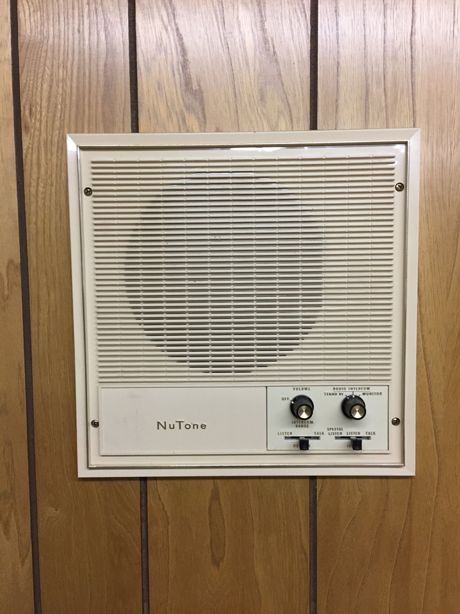 Did I mention every room has a NuTone intercom? If you need pork chops, no need to yell all the way down to the kitchen! Super civilized, yo.