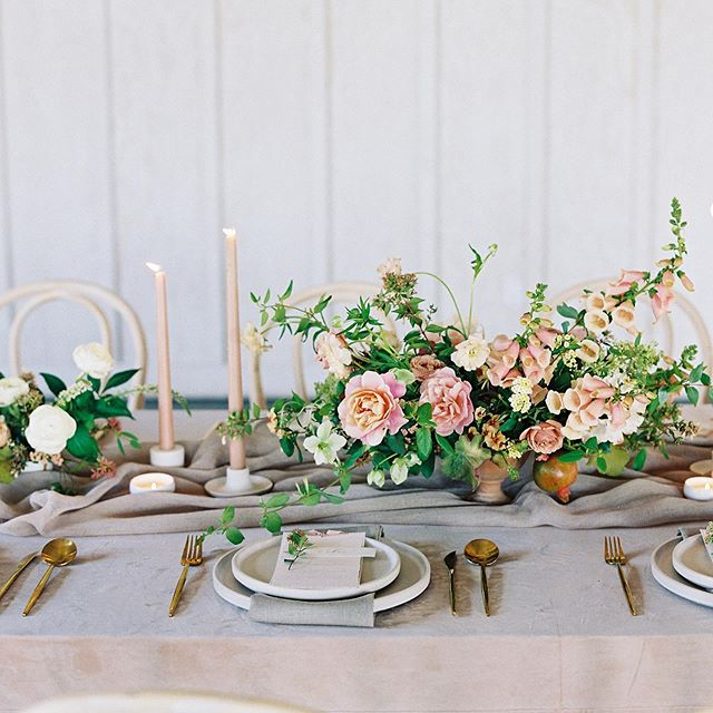 Love them all, couldn't pick a favorite and it's not even because I'm a 7. It's literally because @nathaliecheng captured the table that @nataliechoievents designed so well. . . . Photography: @nathaliecheng Design & styling: @nataliechoievents Florals: @bloomwellandco Venue: @tygewine Paper goods: @flourish.calligraphy Rentals: @theonicollection Linens: @latavolalinen HMUA: @quissy Dress: @alexandragrecco Tux: @theblacktux Rings: @graceleedesigns Accessories: @lindsaymariedesign Cake: @jdcakery  Candles: @thefloralsociety