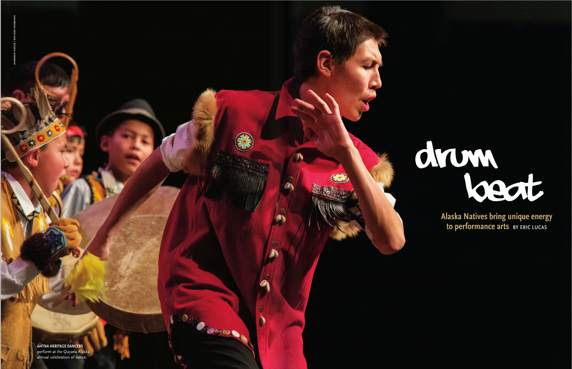 Alaska Airlines Magazine used 5 of my photos in a story on Alaska Native performing arts, starting on page 36.
