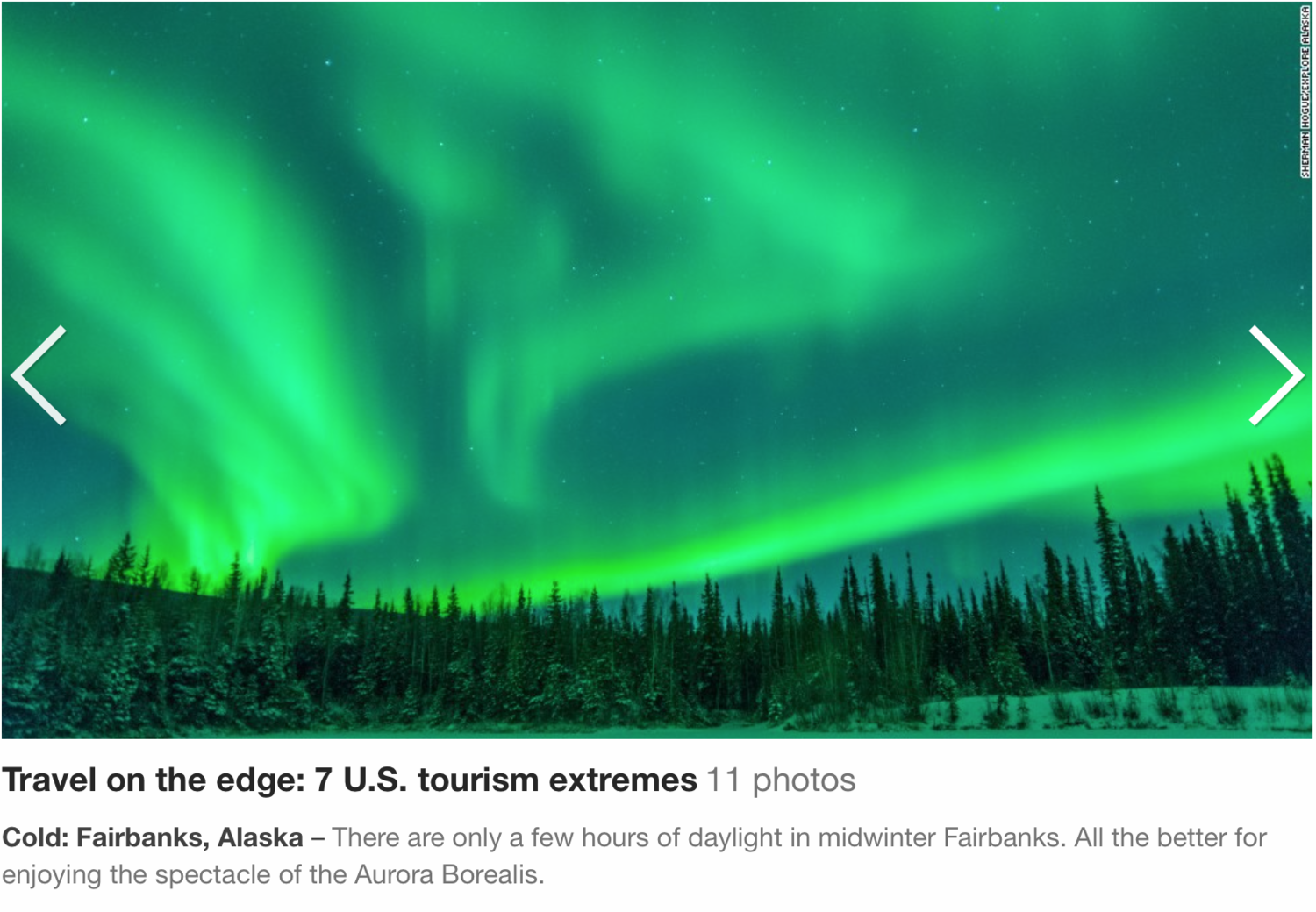 CNN Travel used two of my photos in an online story about U.S. Tourism Extremes on slide 2 and 3.