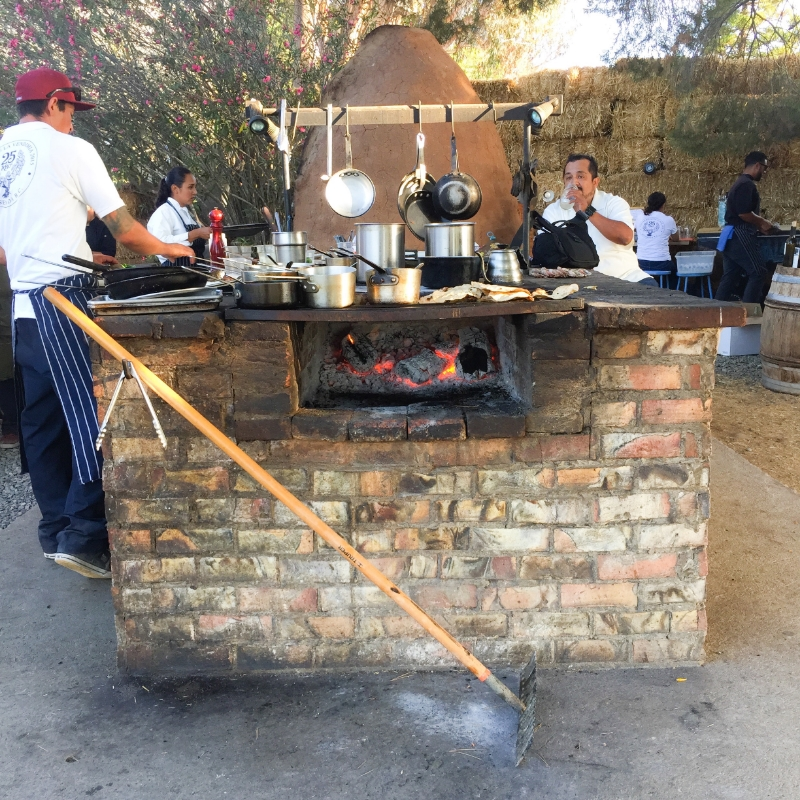 All the gorgeous cuisine you see above/below was cooked over this open air kitchen! Incredible!