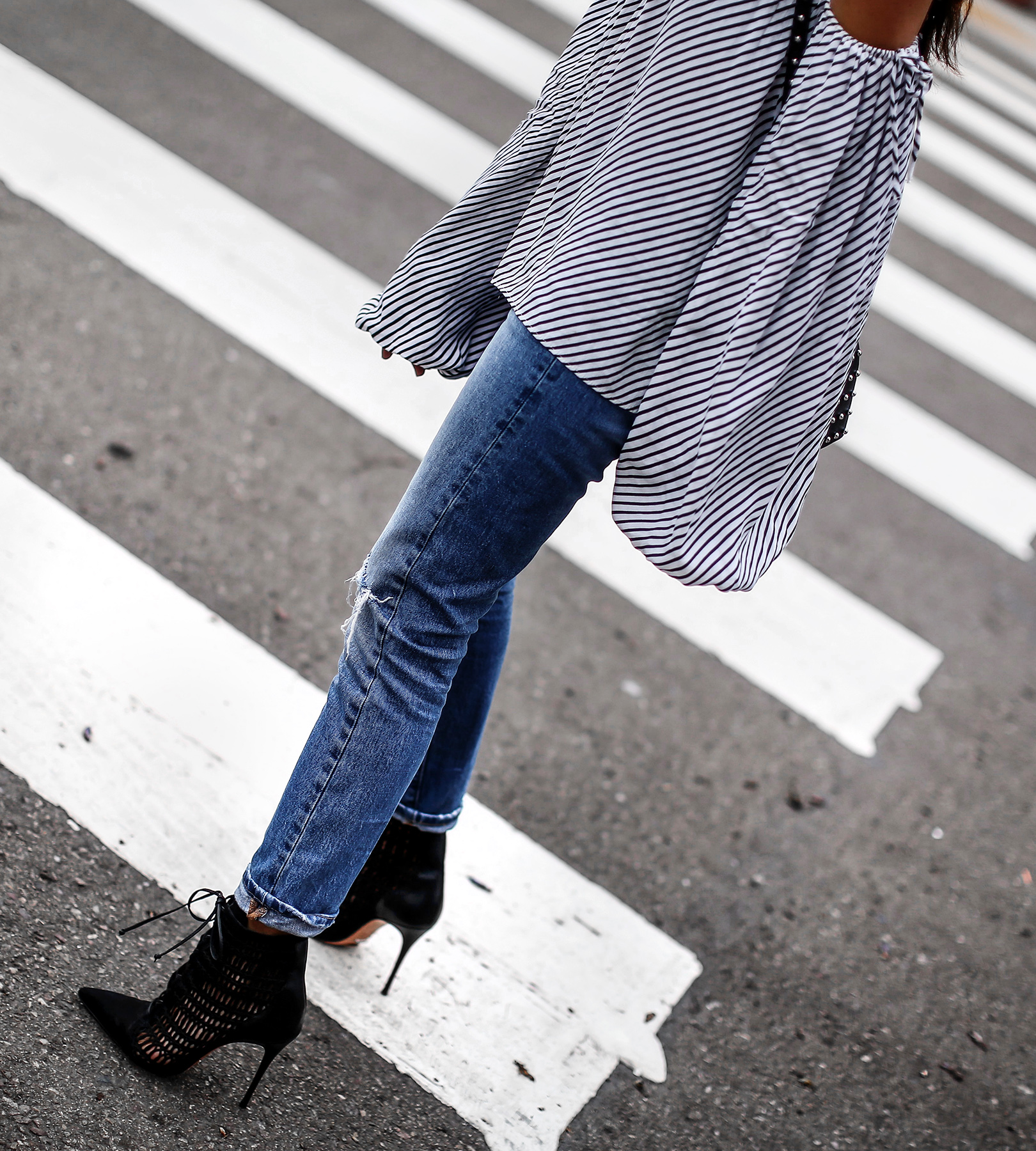 Schutz_Lace_Up_Booties_Distressed_Levis_Jeans_MLM_Striped_Off_The_Shoulder_Top.jpg
