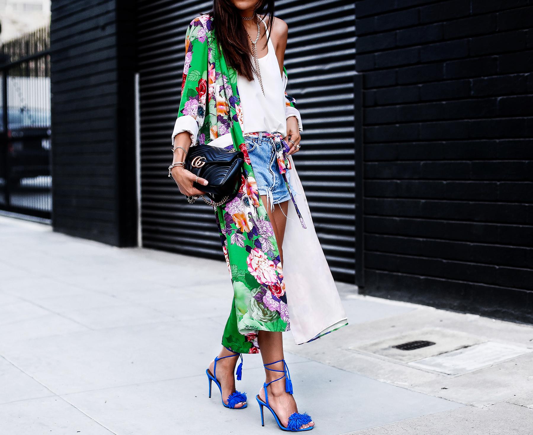 Kimono with Levis shorts Aquazzura Sandals gucci marmont bag.jpg