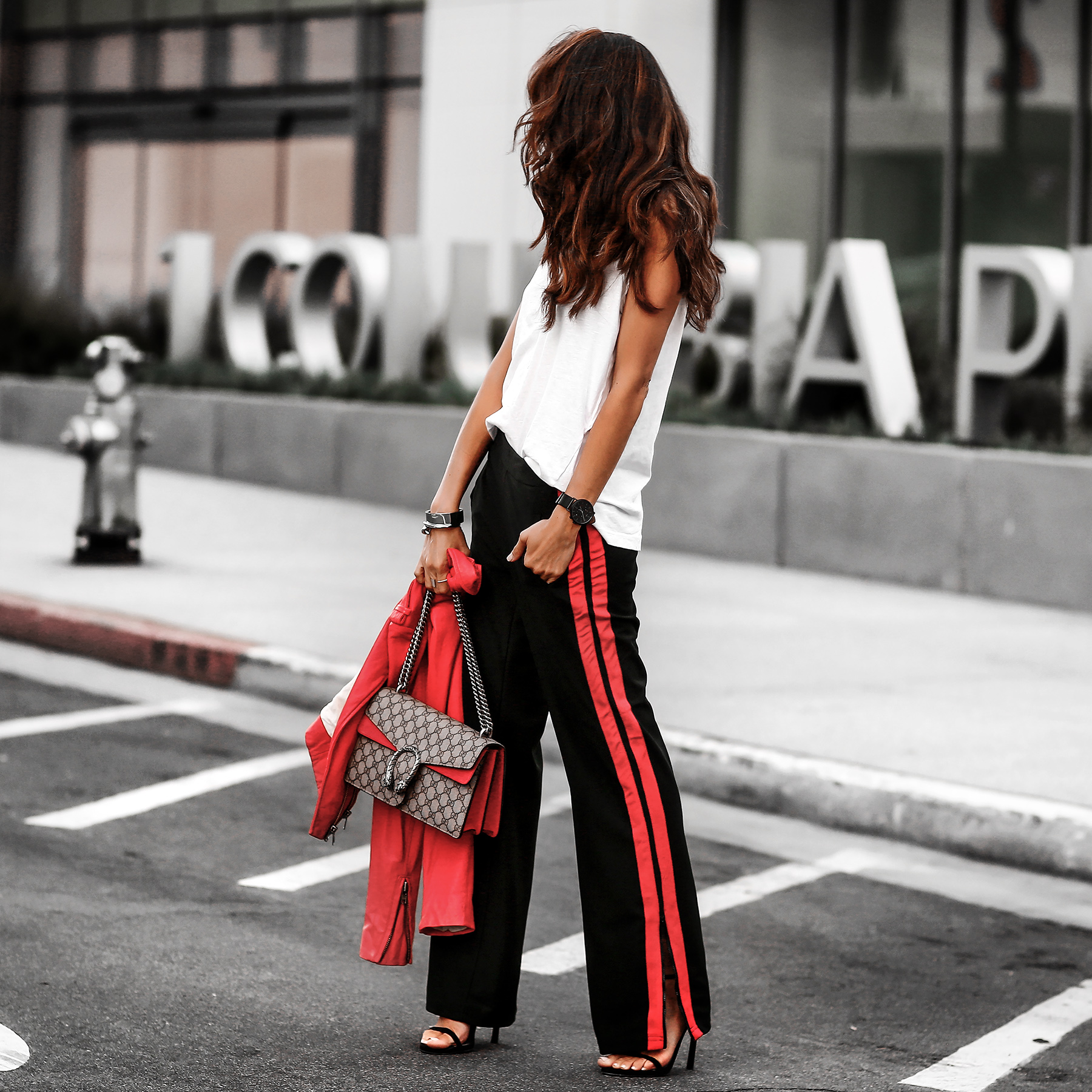 Who What Wear Target Track Pants and Gucci Dionysus Bag Streetstyle.jpg
