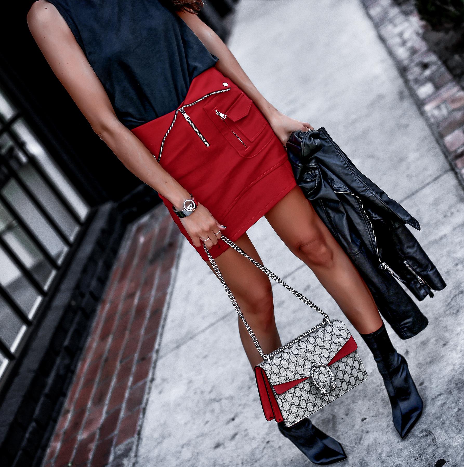 RTA Mini Skirt Tony Bianco Sock Boots Gucci Dionysus Bag.jpg