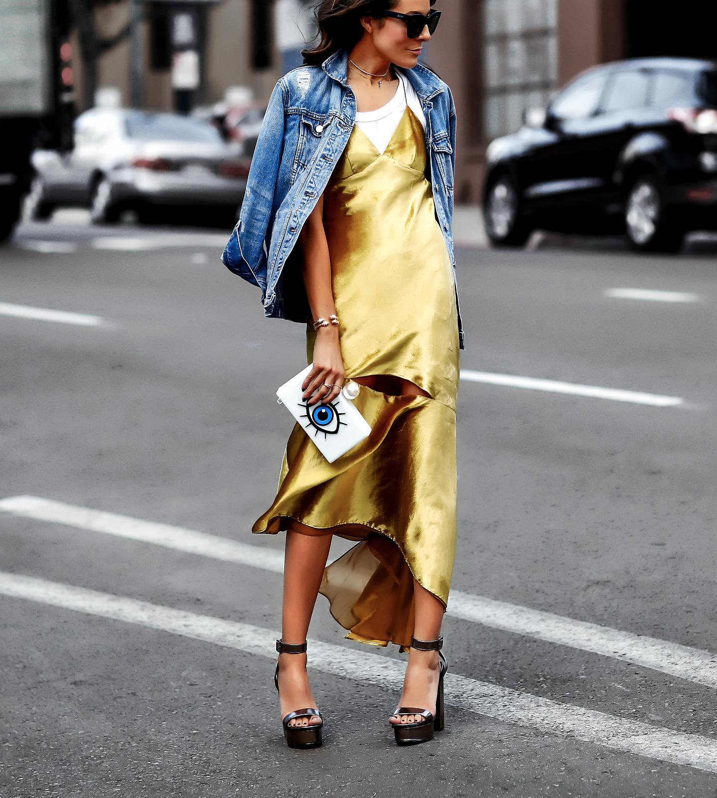 Casual NYE Look MILLY Velvet Dress Jean Jacket and Platforms.jpg