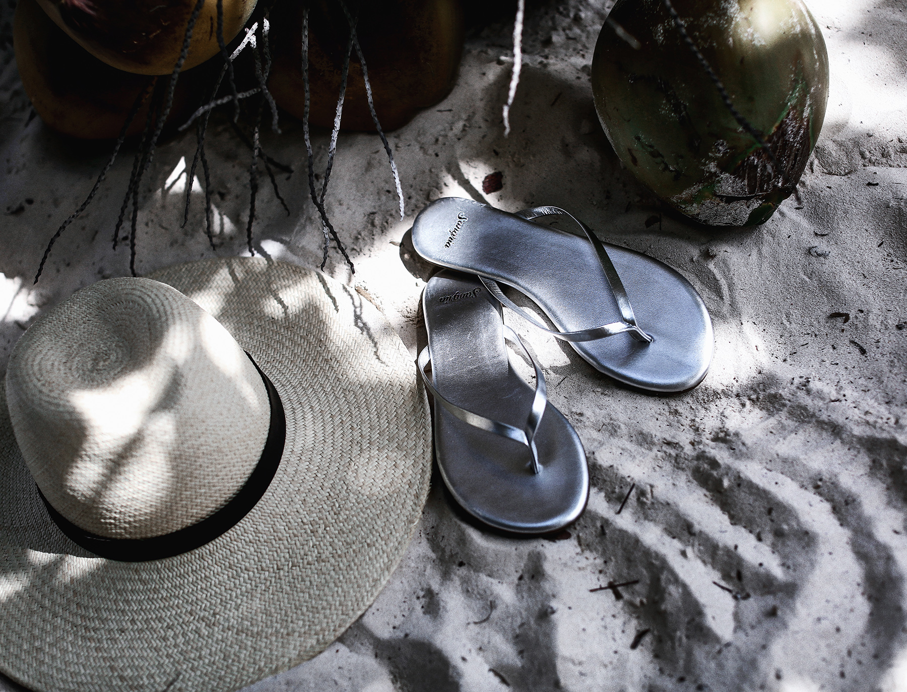 Sangria Metallic SAndals Janessa Leone Panama Hat Tulum Beach Style.jpg