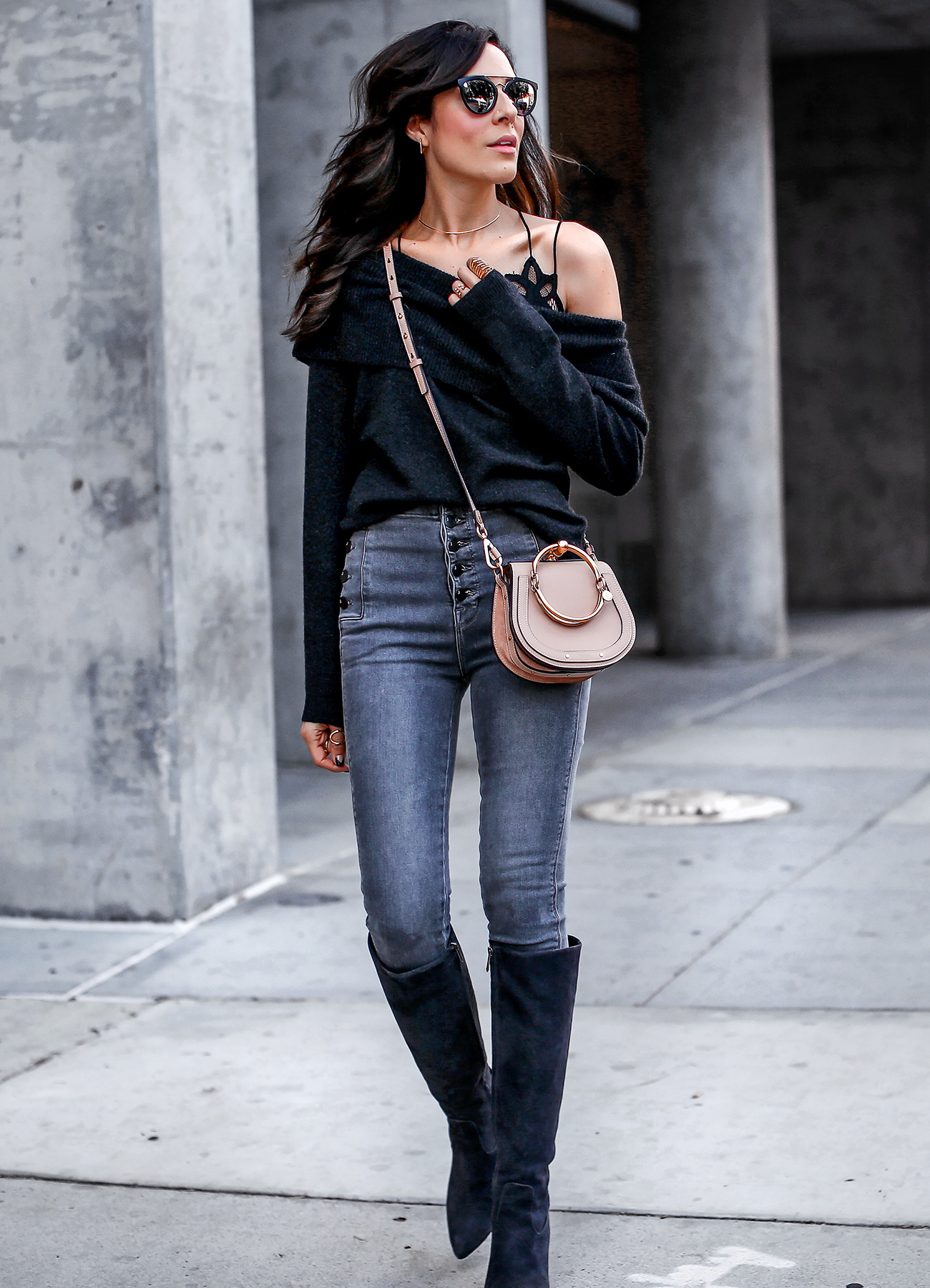 JBrand Jeans Joei Sweater Spring Fashion Sam Edelman Boots Chloe Nile Bag.jpg
