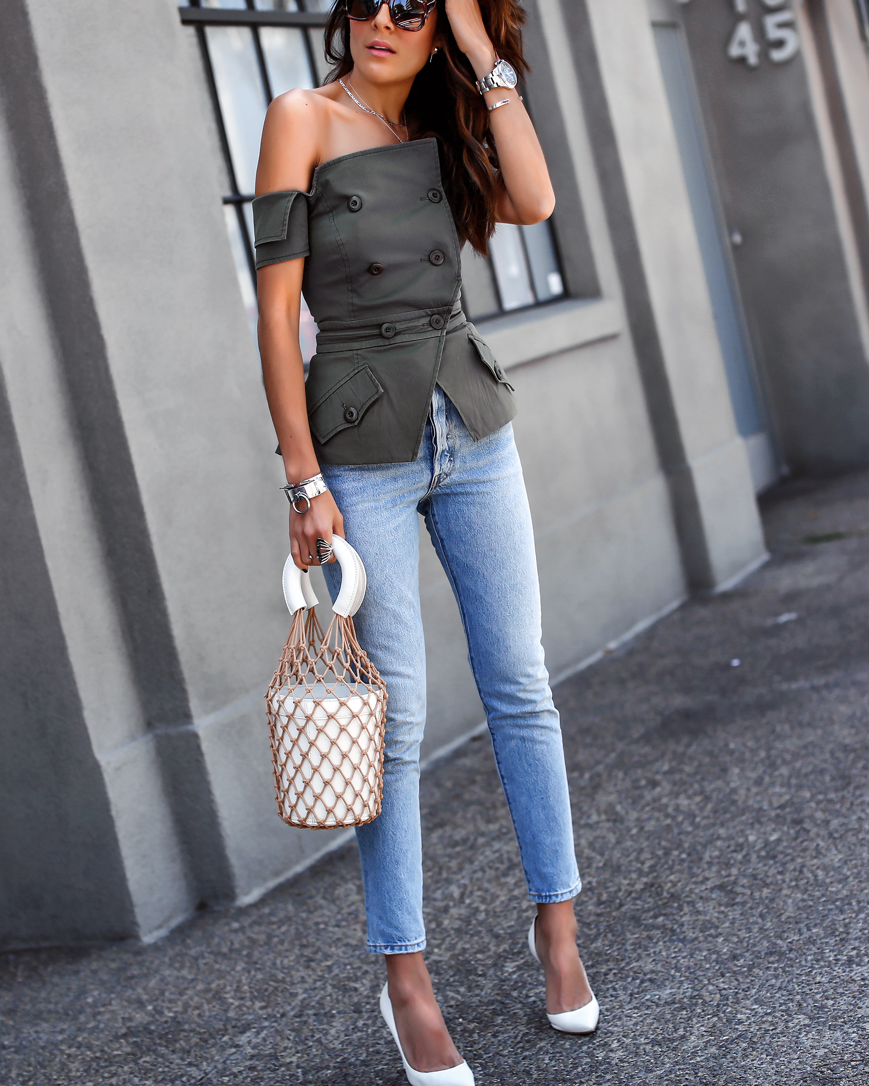 Marissa Webb Vest Levis Jeans Staud Bucket Bag White Shoes Spring Fashion Must Haves.jpg
