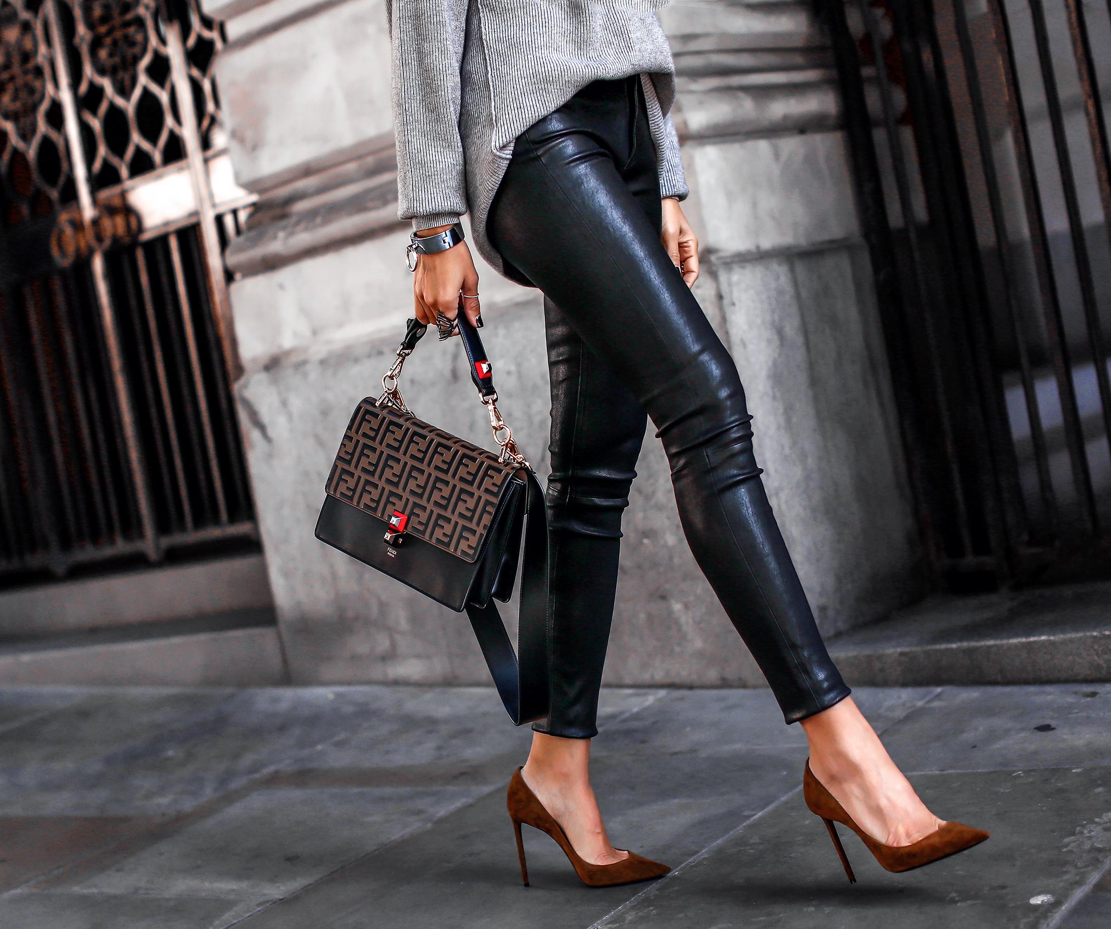 Walking Legs in Leather Pants