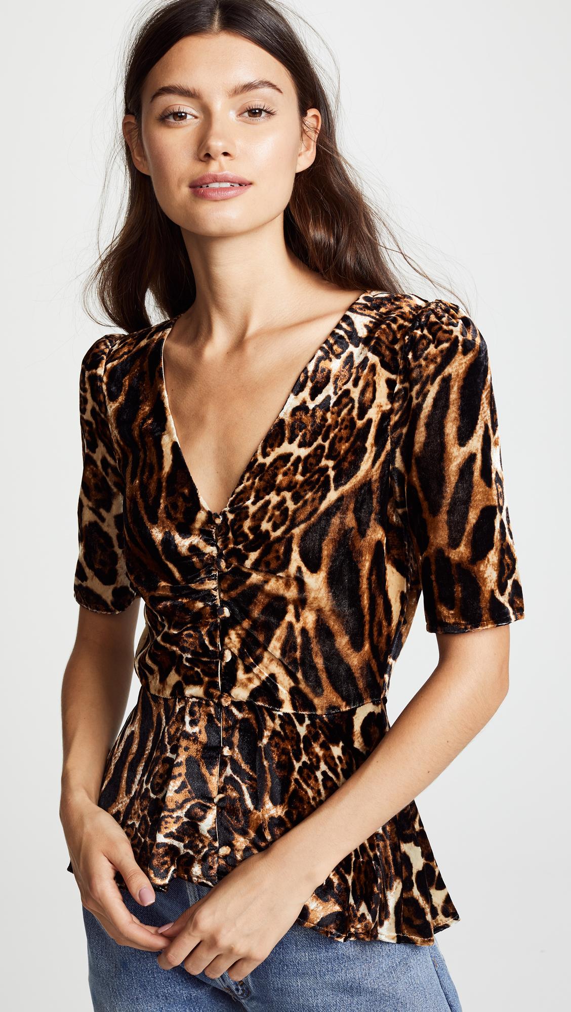 Leopard Velvet Top