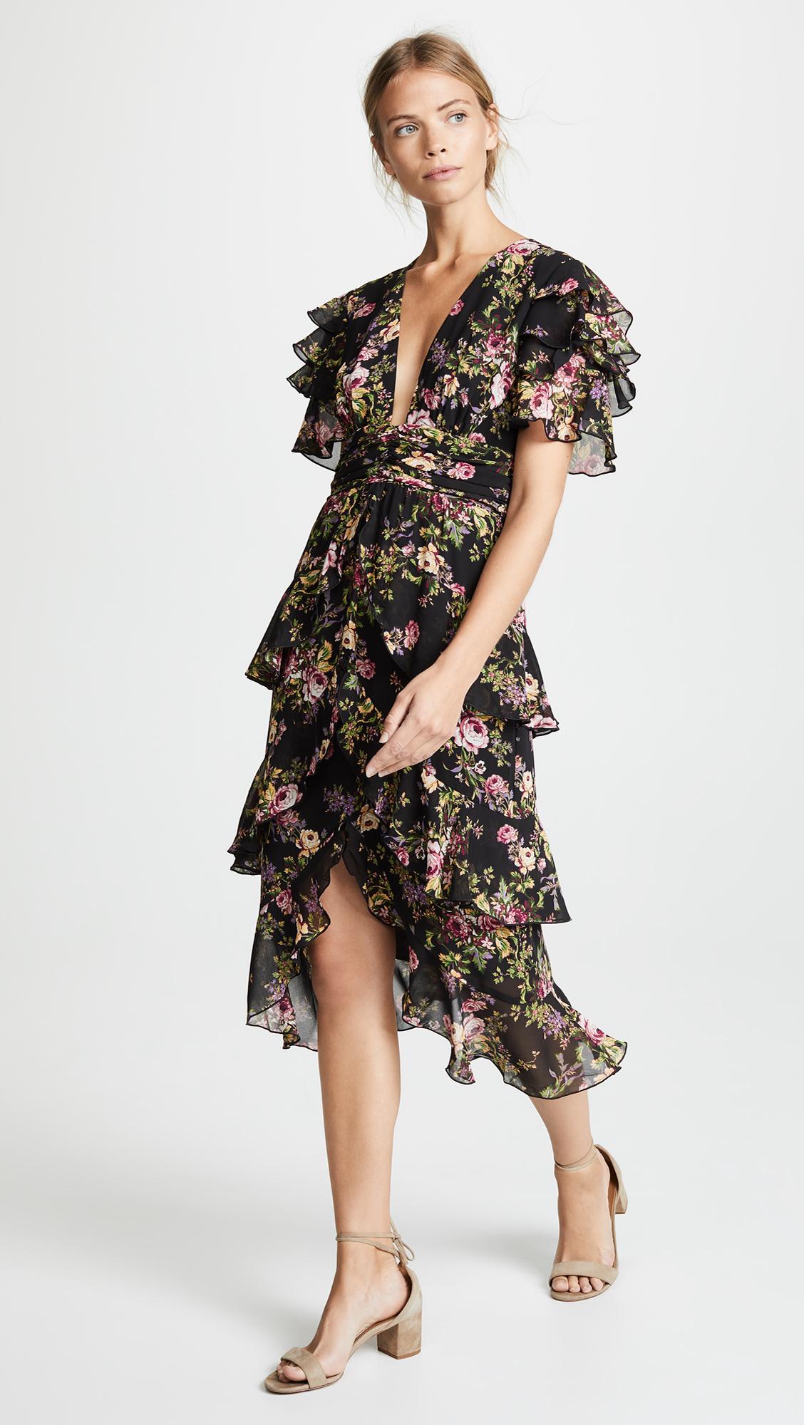 Wayf Floral Ruffle Dress